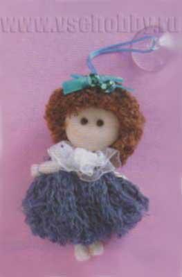куколка брелок из шнурков