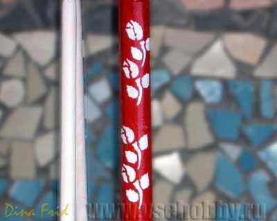 Роспись красками по трафарету
