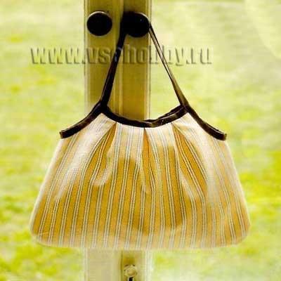 желтая полосатая сумка сшитая своими руками
