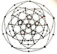 Схема брелока шариков из бисера в развёртке с исправлениями