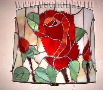витраж роза своими руками