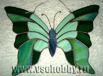 Бабочка витраж своими руками