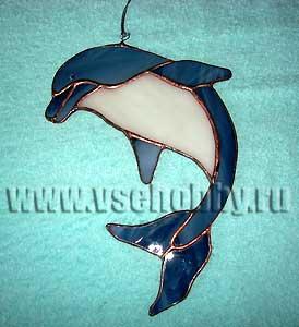 витражная фигурка дельфина своими руками
