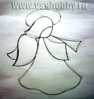 Эскиз ангела для витража своими руками