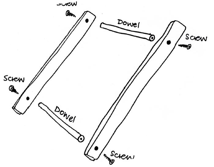 Винты закручиваются с наружной стороны внутрь - схема