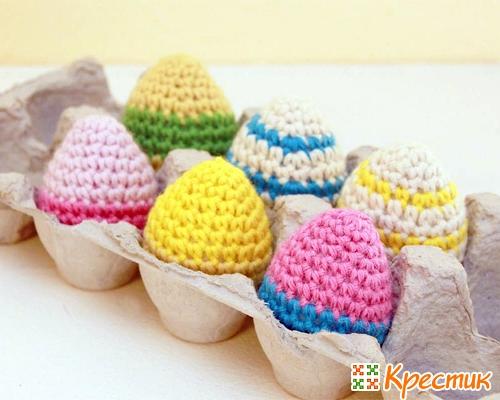 Как обвязать яйцо крючком