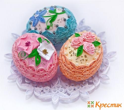 Квиллинг Пасхальные яйца