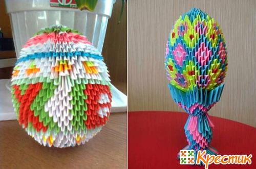 Модульное оригами Пасхальное