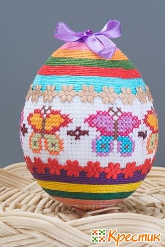 Пасхальное яйцо с вышивкой