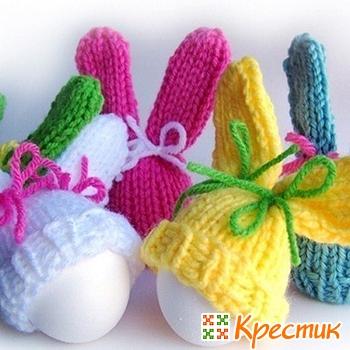 Вязаные шапочки для пасхальных яиц