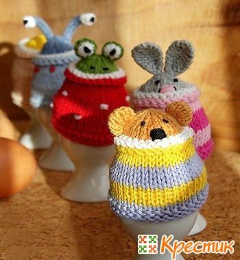 Вязаные украшения для яиц