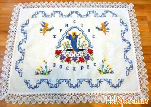 Вышивка крестом Пасхальные салфетки