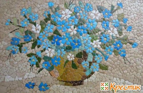 Мозаика из яичной скорлупы фото