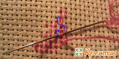 Закрепление нити в вышивке