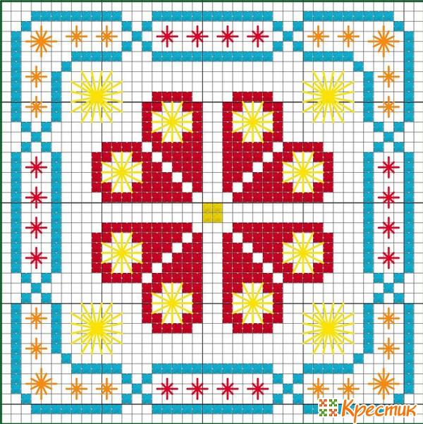 Схемы вышивки крестом кривульки