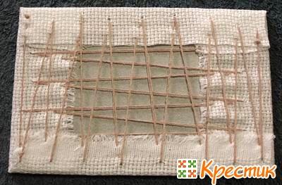 Закрепление вышивки нитками
