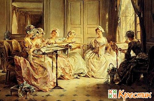 История создания вышивки