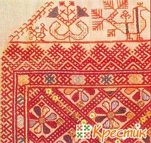История вышивки в России