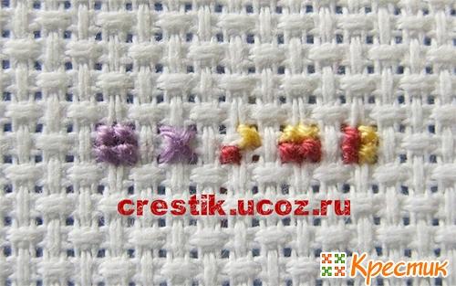 Виды швов для вышивания