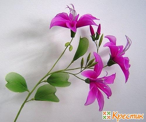 Цветы из капрона фото