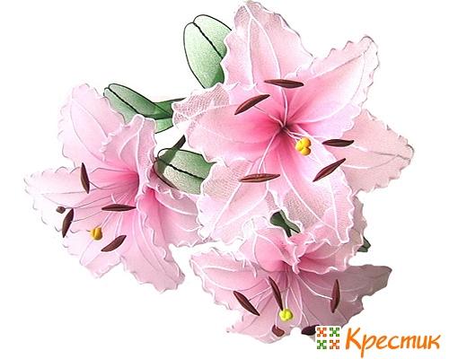 Цветы из капрона лилия