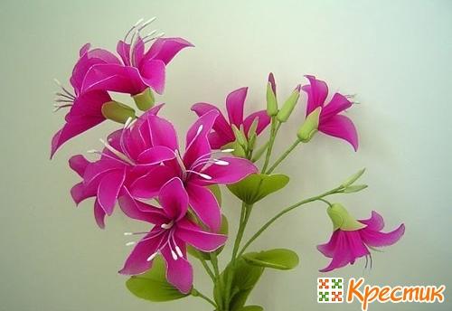 Как делать цветы из капрона