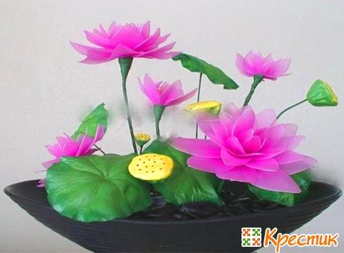 Цветок своими руками из ваты 48