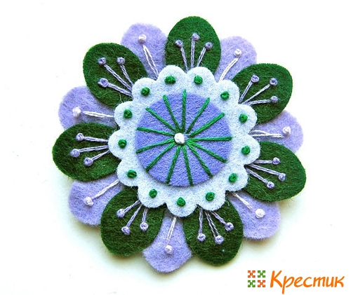 Цветы из фетра фото 5