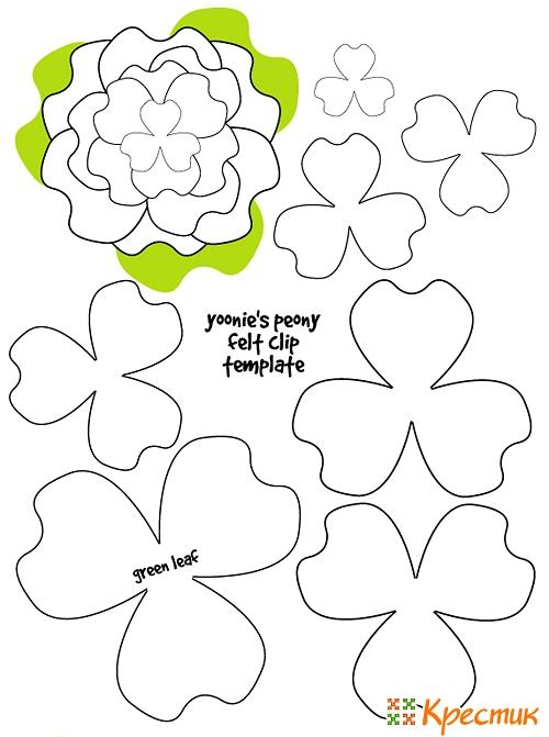 Цветок органзВаляны украшения своими руками