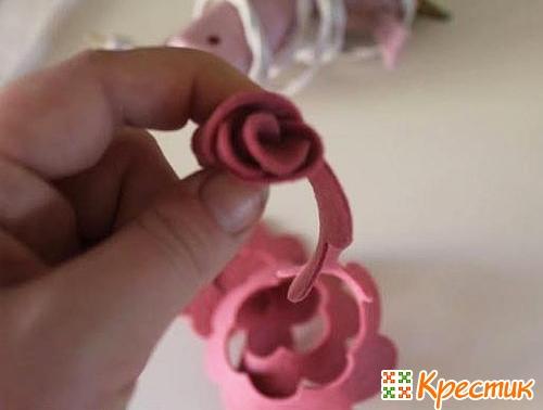 Роза из фетра мастер класс
