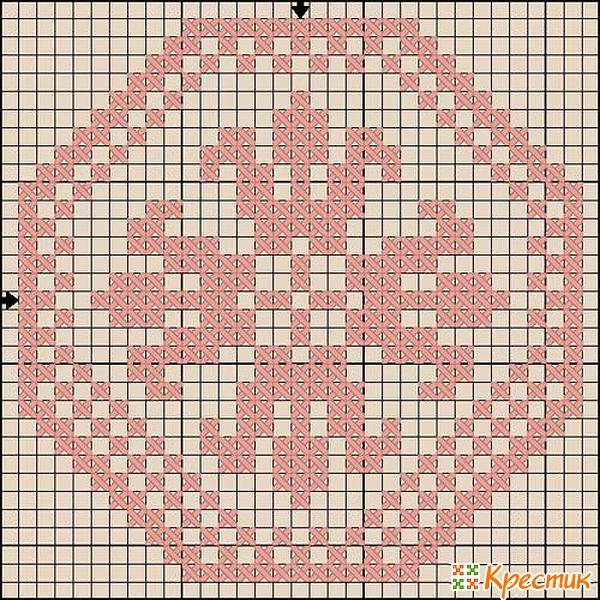 Схема вышивки крестом