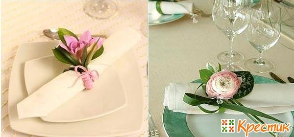 Бутонберка для свадебного стола