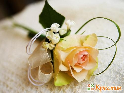 Свадебные бутоньерки своими руками