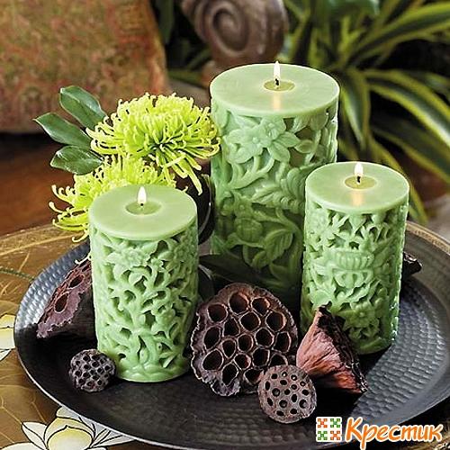 Оригинальные свечи своими руками