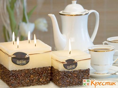Свечи с зернами кофе
