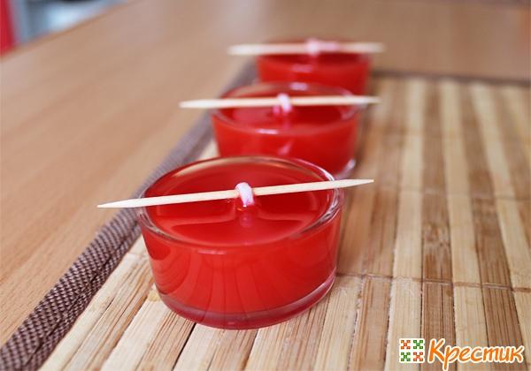 Чайные свечи своими руками