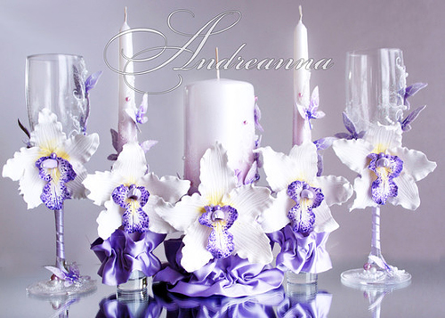 Свечи «Сиреневая орхидея Butterflies»