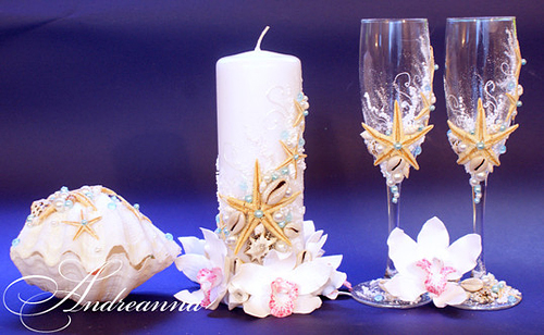 Свадебные свечи Сокровища морей