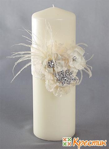 Декор свадебных свечей своими руками