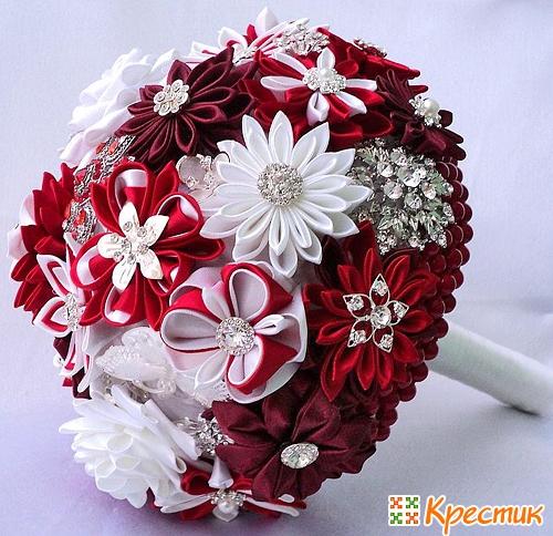 Искусственные свадебные букеты своими руками