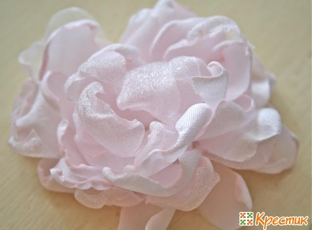 Свадебный букет из ткани