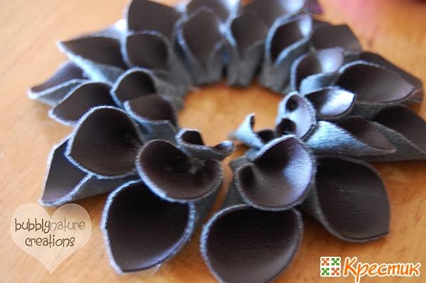 Как сделать цветок из кожи мастер класс 920