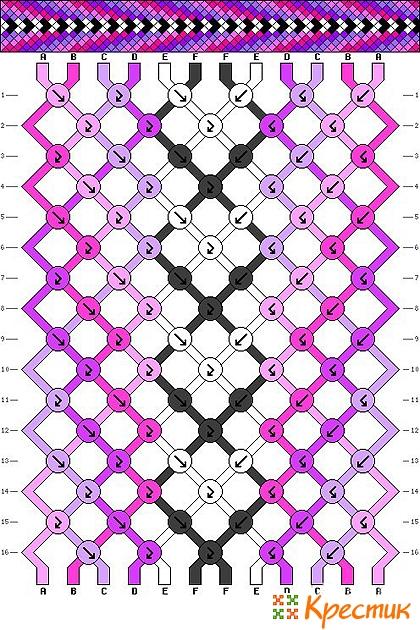 Фенечки схемы прямого плетения