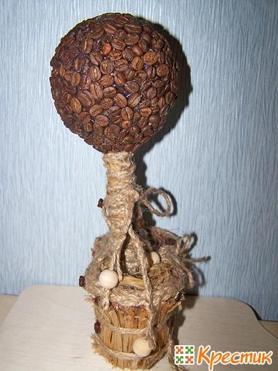 Кофейный топиарий Вид сбоку