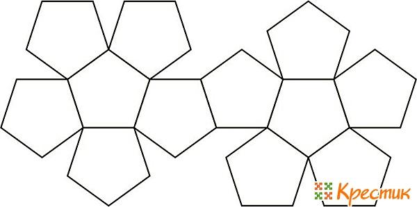 Схема сборки шара из пятиугольников