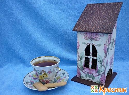 Декупаж чайного домика мастер класс