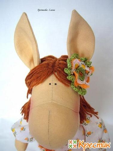Текстильная лошадка мастер класс
