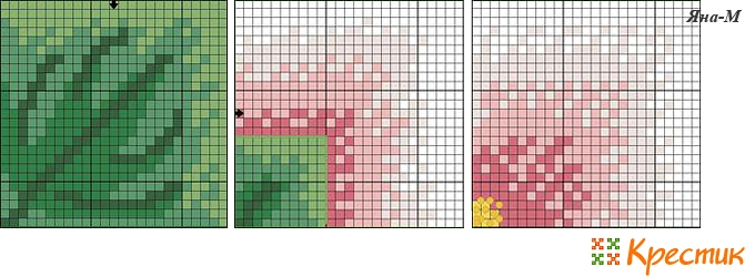 Схема вышивки кривулька цветок
