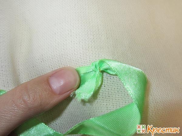 Техника вышивки лентами