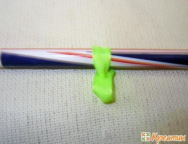 Вышивка цепочки лентами
